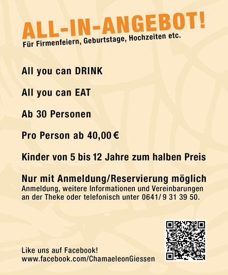 Chamäleon Restaurant-Cafe-Bar in Gießen - Events - Aktuell